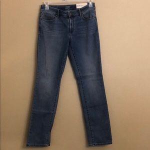 Loft Curvy Straight Jeans Stretch Size 28/6
